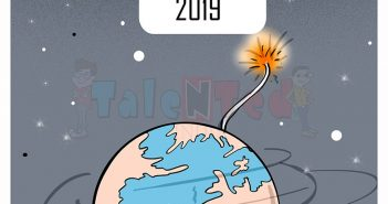 Talented India Today Cartoon On Happy New Year 2018 : Images, SMS, Status