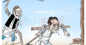 Talented India Today Cartoon On Kamal Nath CM Oath And Farmers