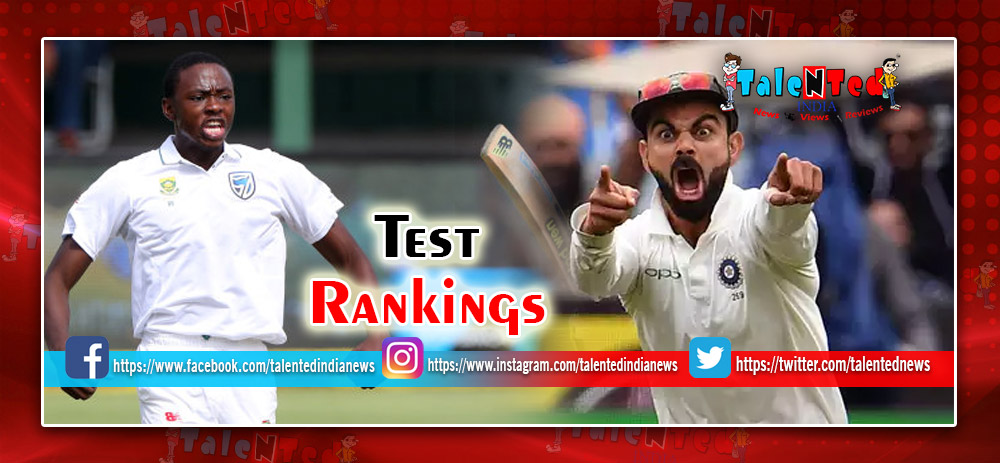 ICC Test Rankings 2018 : ICC Test Batsman Ranking : ICC Test