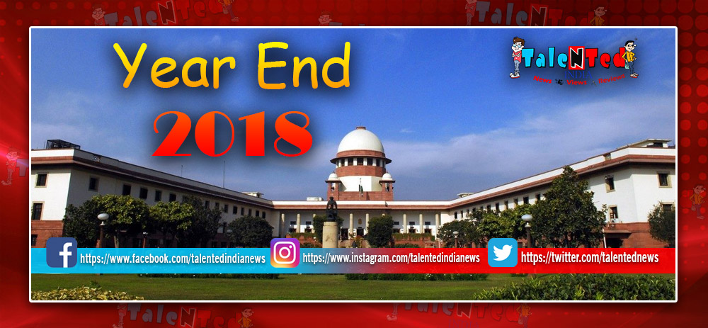 Happy New Year 2019 : Supreme Court's Top 10 Decisions Of 2018 In India