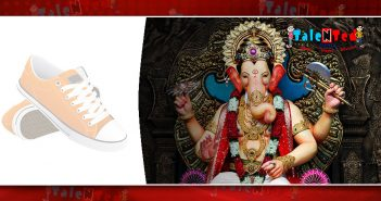 photos of Lord Ganesha on shoes