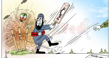 Today Cartoon On Indian Army, Pakistan Army, Pakistan Army Attack