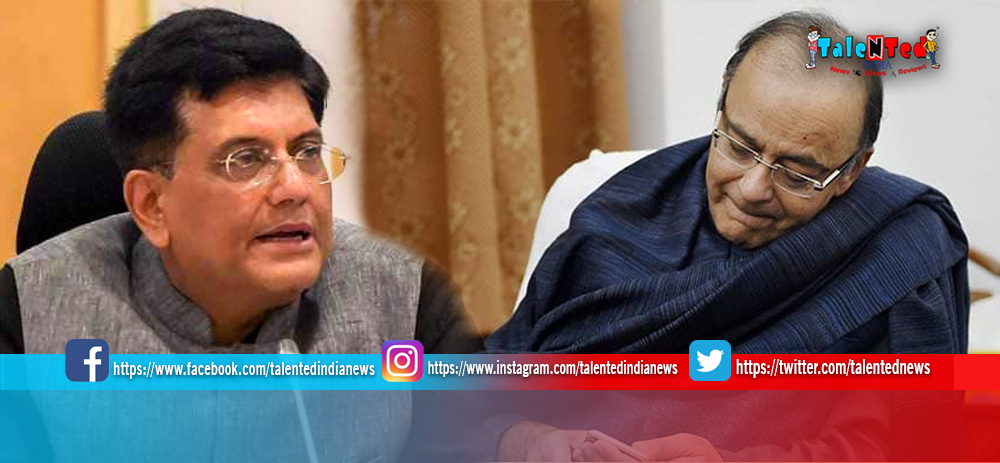 Interim Budget 2019 : Piyush Goyal Gets Temporary Charge Of Finance Ministry