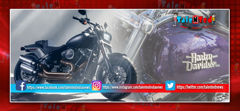 Harley Davidson Fat Bob Price, Images, Colours, Mileage, Reviews, Specification