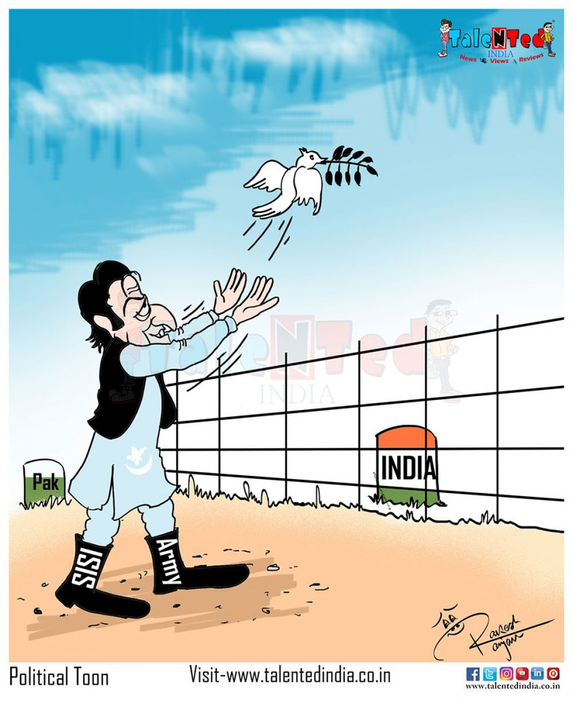 Today Cartoon On Pakistan PM Imran Khan, Narendra Modi, BJP, Congress, India
