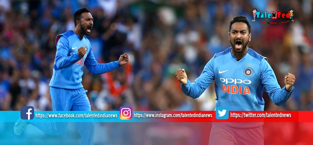 IND vs NZ 2nd T20 2019 Live Record Krunal Pandya Becomes First Indian Bowler