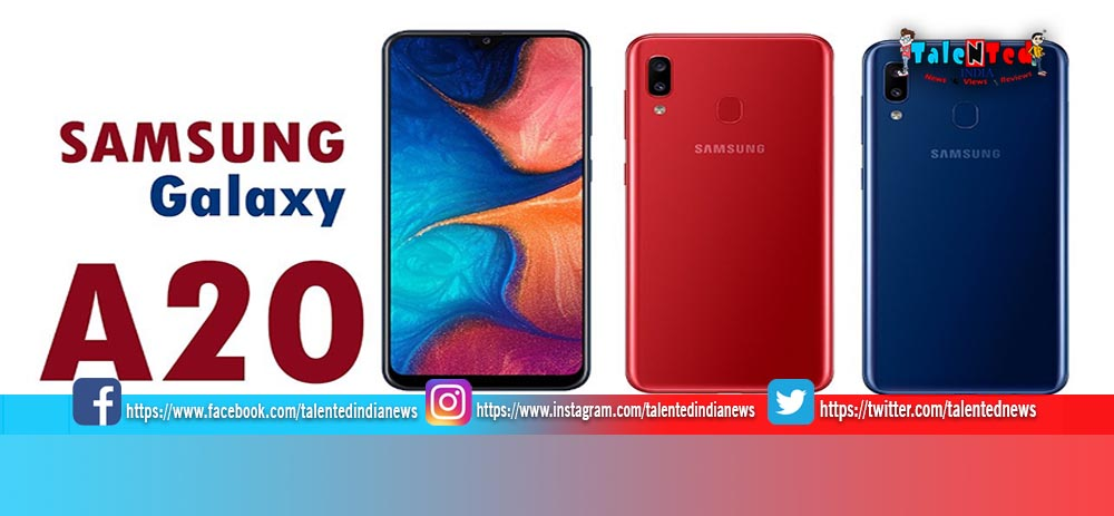 Samsung Galaxy A20 Price In India, Review, Specification, Images, Features, Color