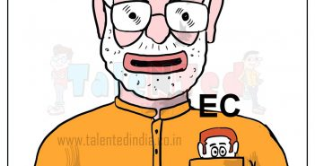 Today Cartoon On PM Modi Clean Chit, Election Commission, BJP