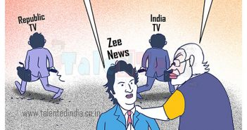 Today Cartoon On PM Modi Zee News Interview, Rahul Gandhi Cartoon