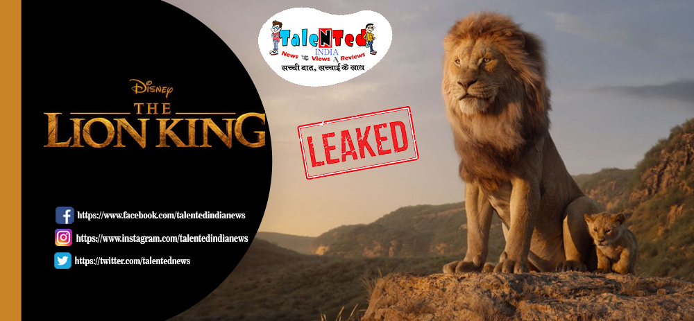 The Lion King Full Movie HD Download Free Link Leaked By Tamilrockers
