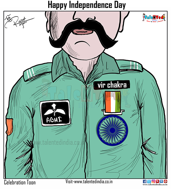 Today Cartoon On Abhinandan Awarded Vir Chakra, PM Narendra Modi