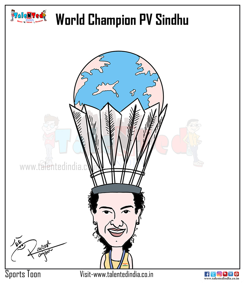 Today Cartoon On BWF World Badminton Championship 2019, PV Sindhu
