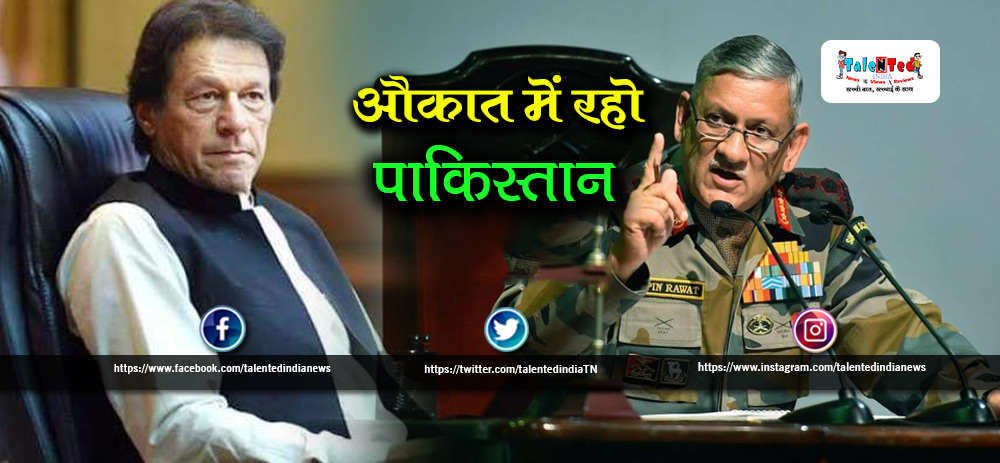 Indian Army Chief Bipin Rawat On Article 370 Remove From Kashmir