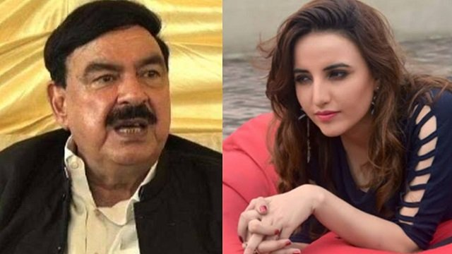 Tik Tok star Harim Shah Chat With Railway Minister Sheikh Rashid