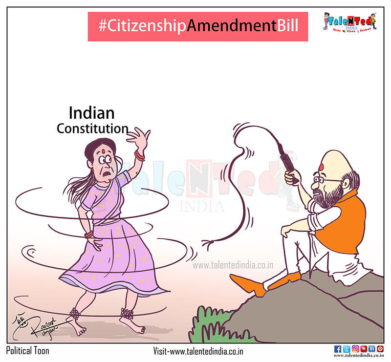 Cartoon On Citizenship Amendment Bill