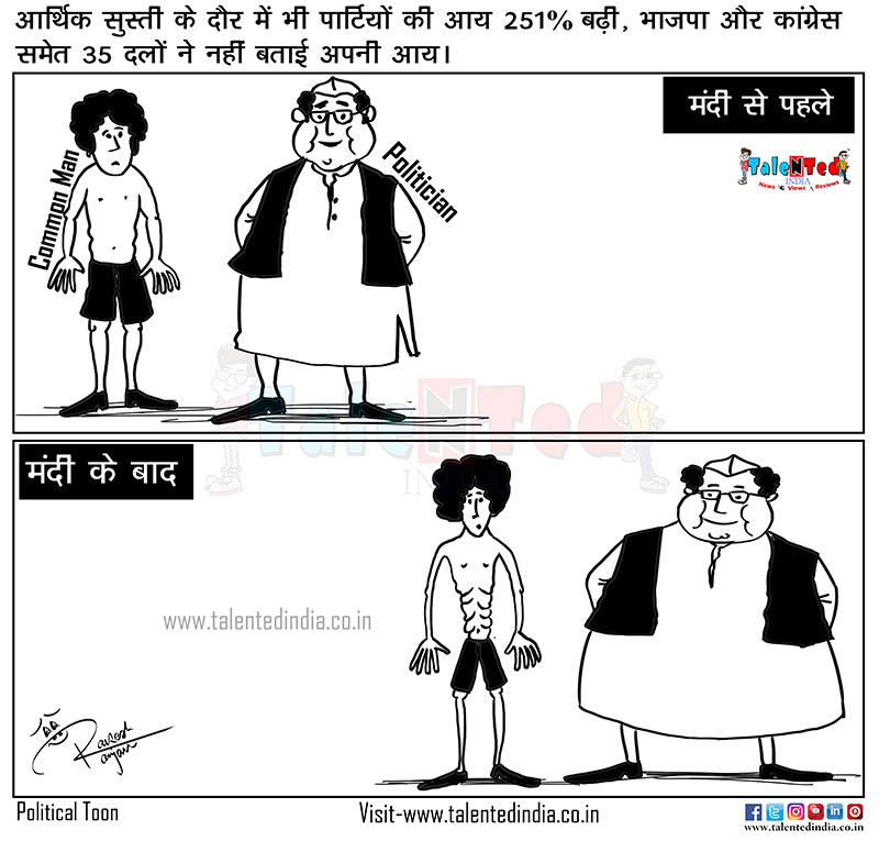 Cartoon On Indian Economic Crisis