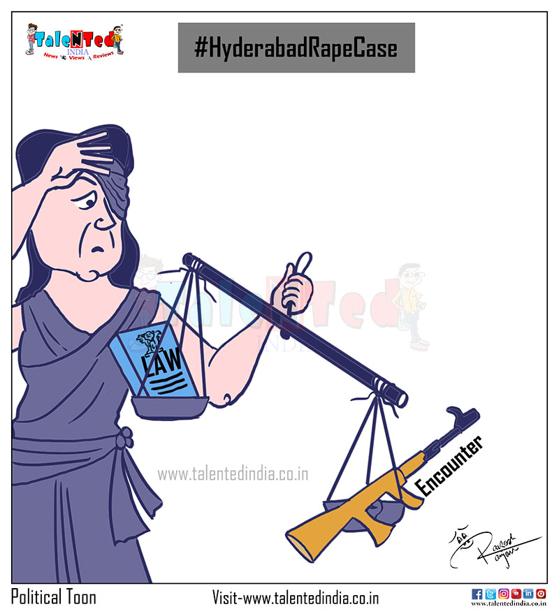 Cartoon On Hyderabad Police Encounter