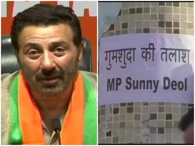 Actor Sunny Deol Missing Posters Seen In Pathankot | Latest News