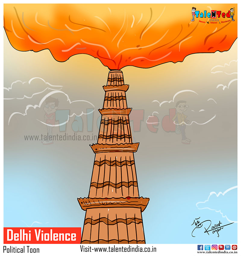 Cartoon On Delhi Violence | Cartoon On Delhi Burns | CAA