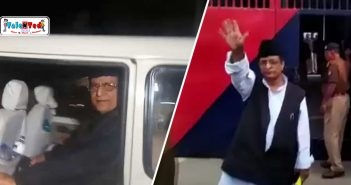 Azam Khan In Jail With Wife Tazeen Fatma And Son Abdullah Azam Khan