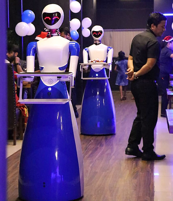 Robot Waiter Arrived In War Torn Afghanistan Brought Smile To Every Face
