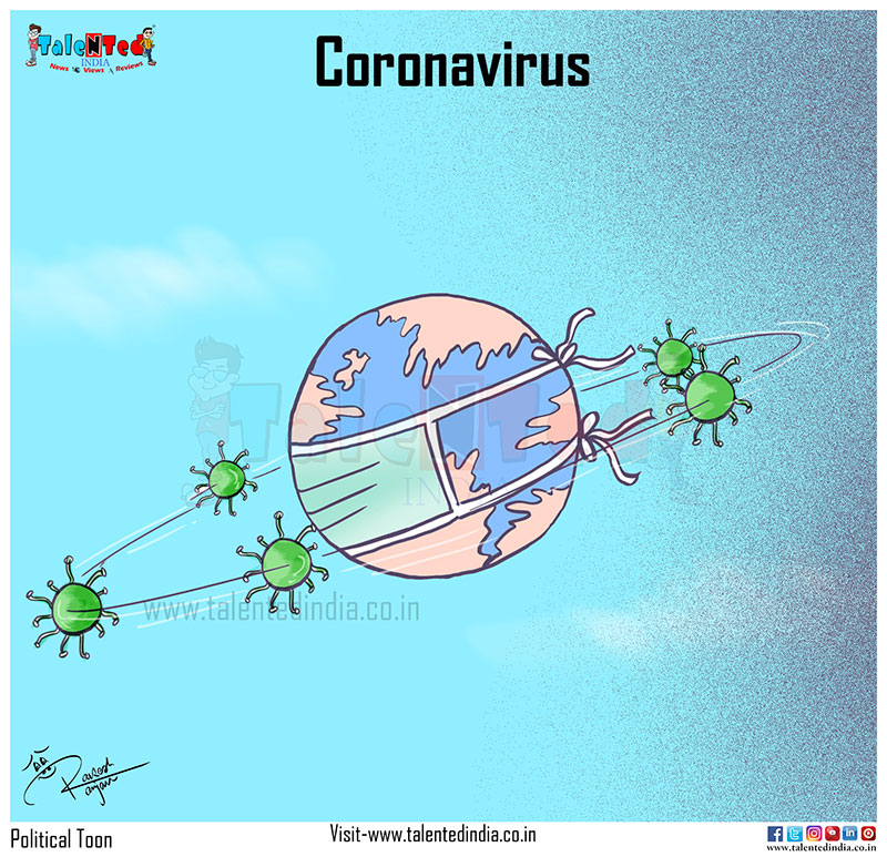 Cartoons on the coronavirus | Talentedindia News