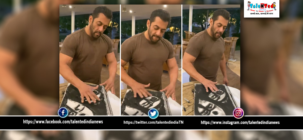 Salman Khan Painting Video Viral On Social Media