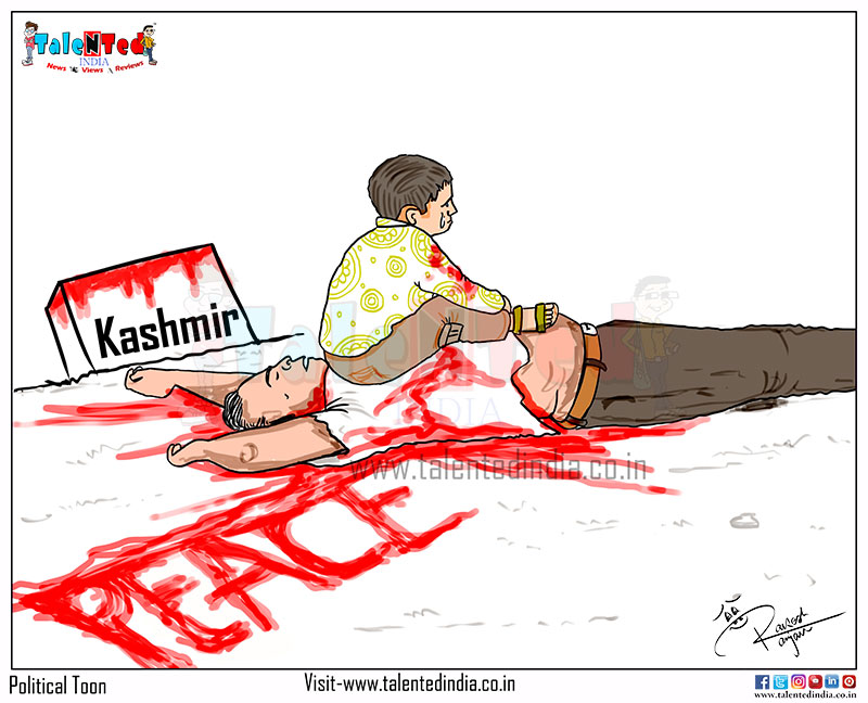 Kashmir Bleeds 2020 Cartoon | Political Cartoon News | Political Memes